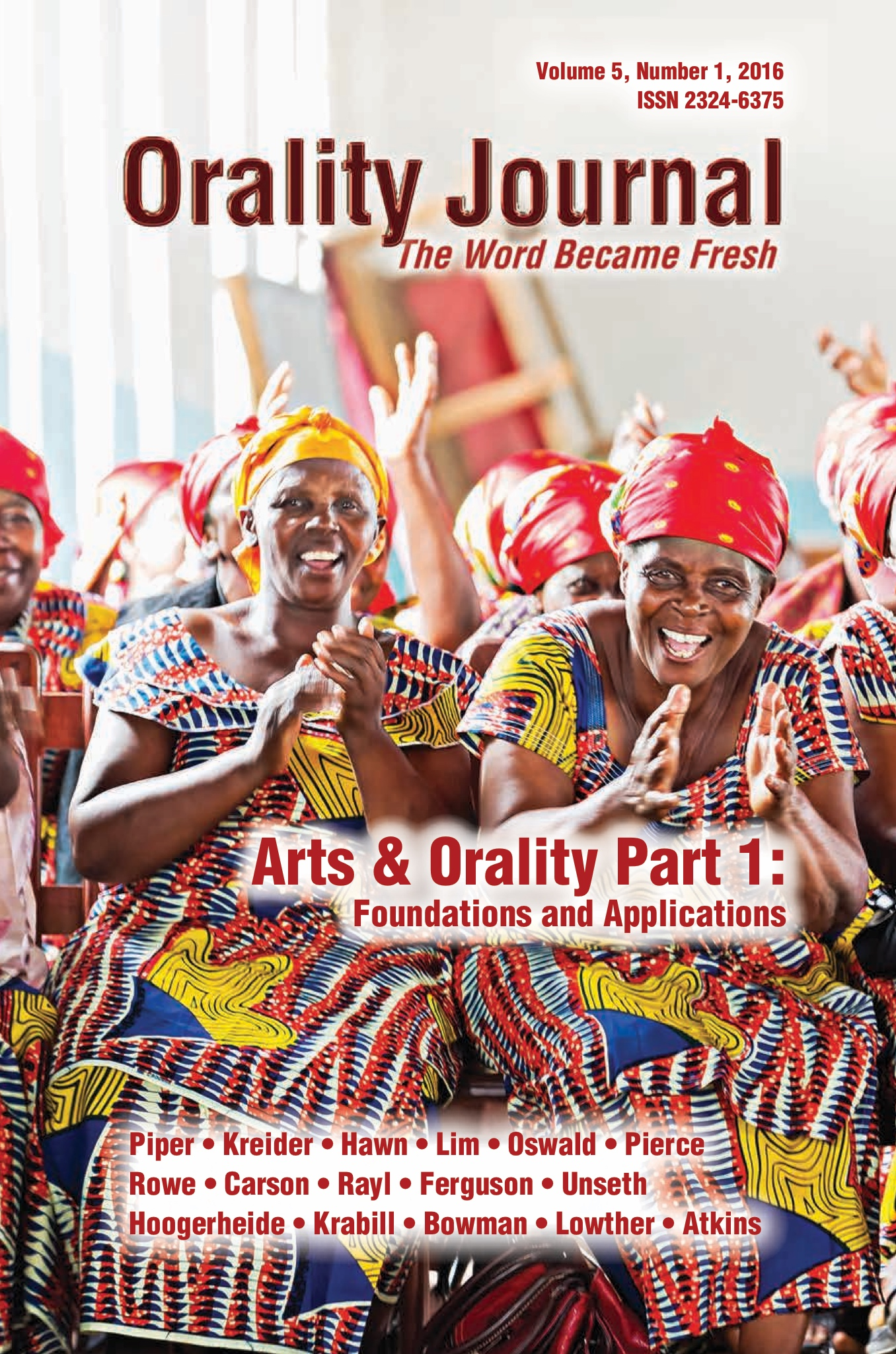 Arts & Orality journal volume published
