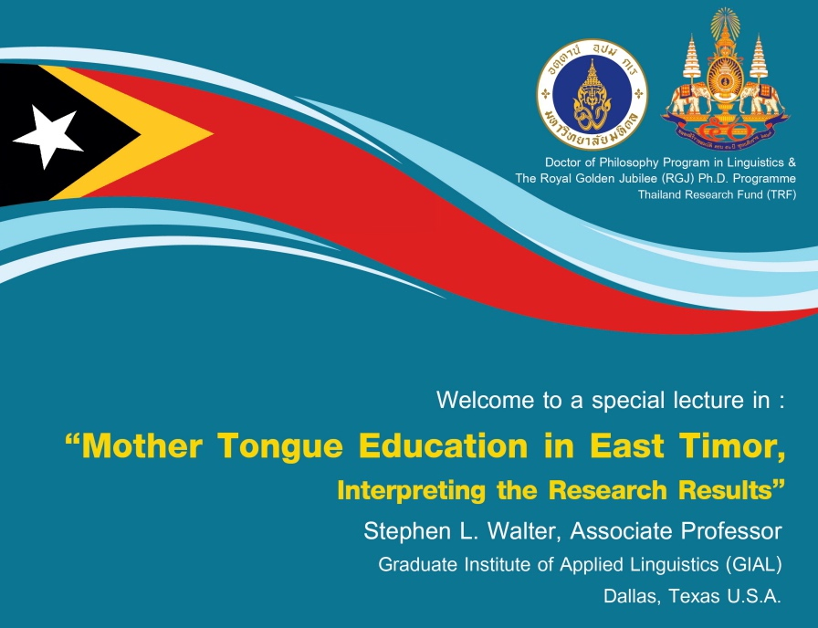 Mother Tongue Education in East Timor