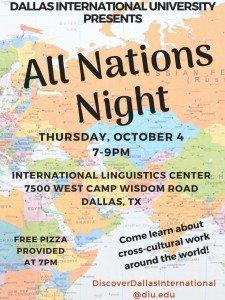 All Nations Night! @ International Linguistics Center